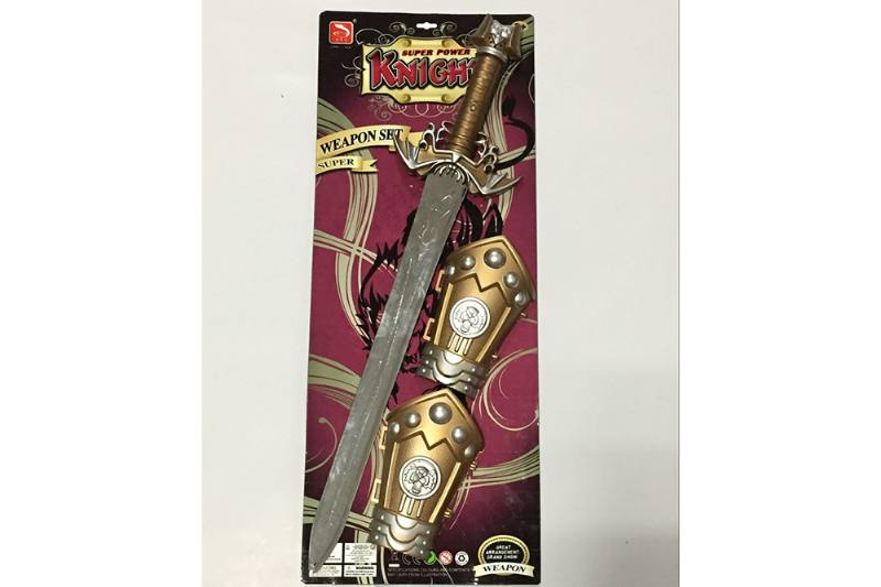 Simulation weapon toy spray gold sword (with IC) No.TA257565