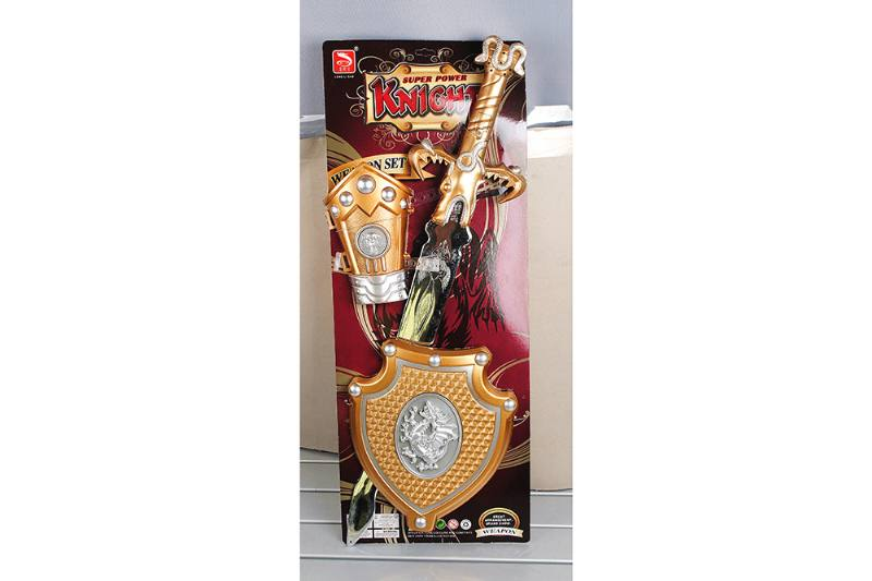 Simulation weapon toy spray gold sword (with IC) No.TA257567
