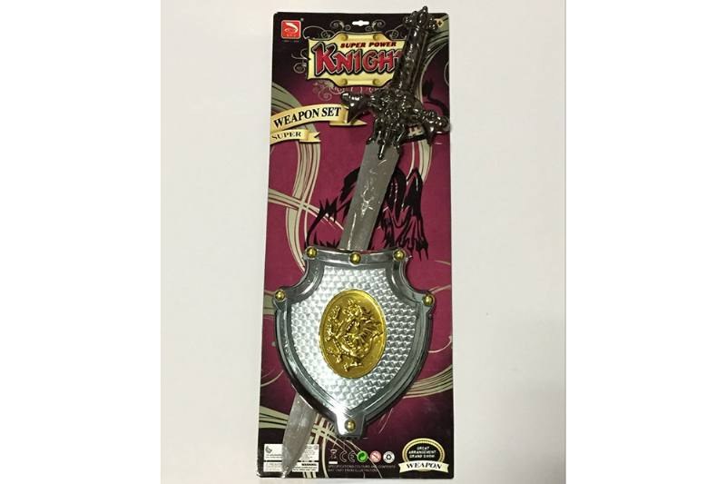 Simulation weapon toy black gold sword (with IC) No.TA257571