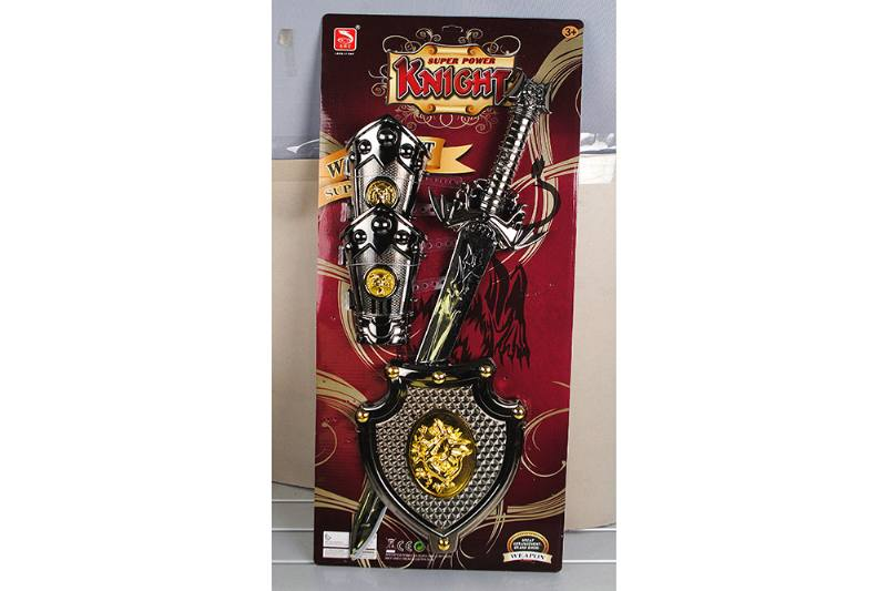 Simulation weapon toy black gold sword (with IC) No.TA257572
