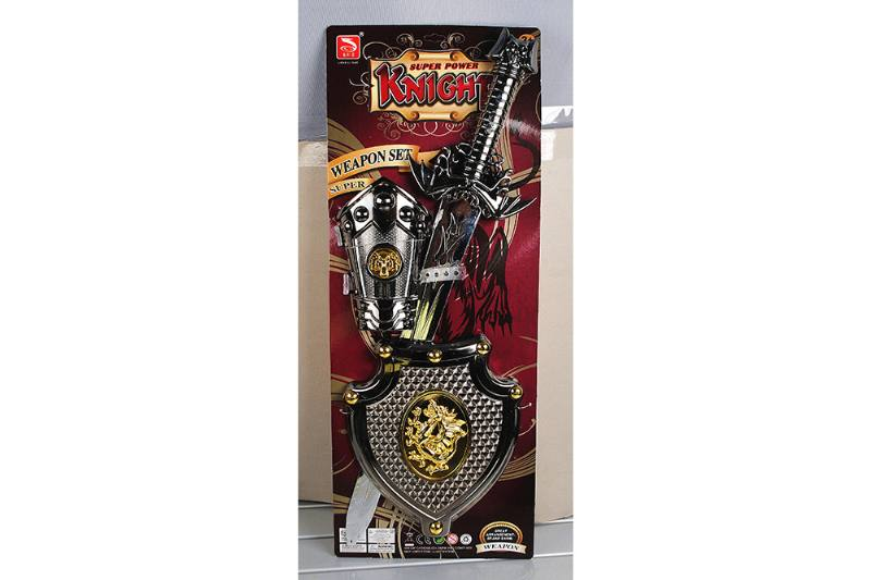 Simulation weapon toy black gold sword (with IC) No.TA257574