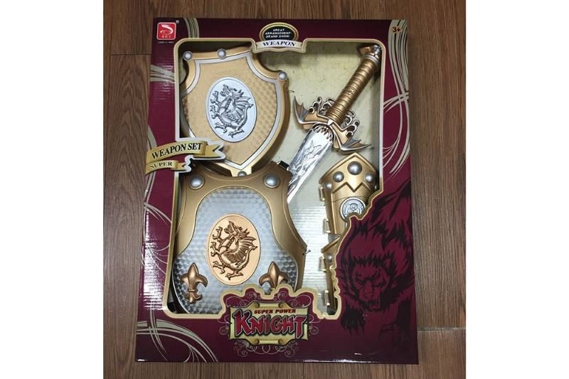 Simulation weapon toy Spray paint gold sword (with IC)  No.TA257576