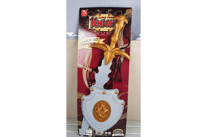 Simulation weapon toy solid color sword + triangle shield No.TA257591