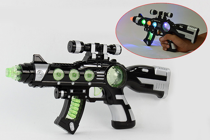 Electric gun toy vibrating flash octave gun No.TA261368