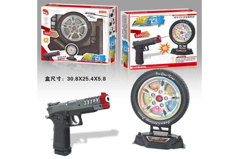 Electric laser wheel toy gun NO.TA262715
