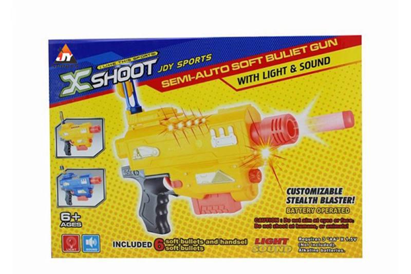 Electric toy lamp belt soft gun No.TA257380