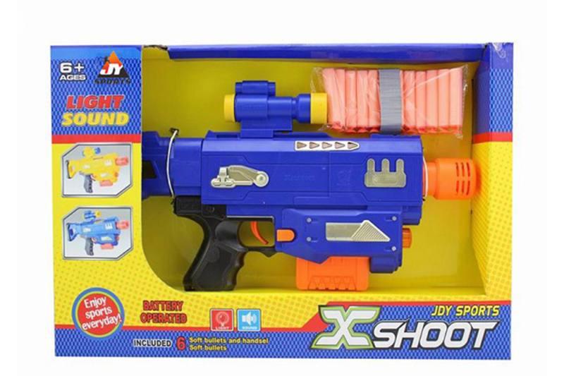 Electric toy lamp belt soft gun No.TA257381
