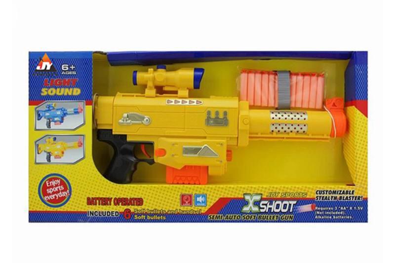 Electric toy lamp belt soft gun No.TA257382