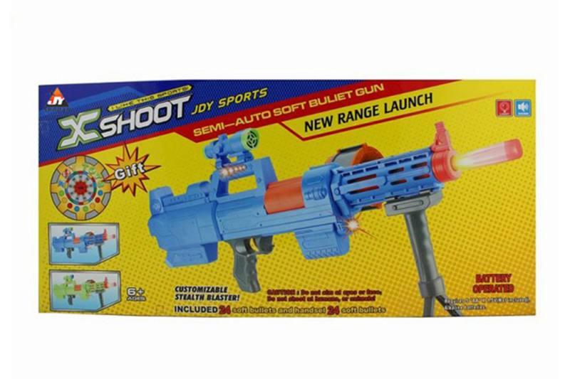 Electric toy lamp belt soft gun No.TA257383