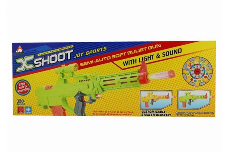 Electric toy lamp belt soft gun No.TA257384