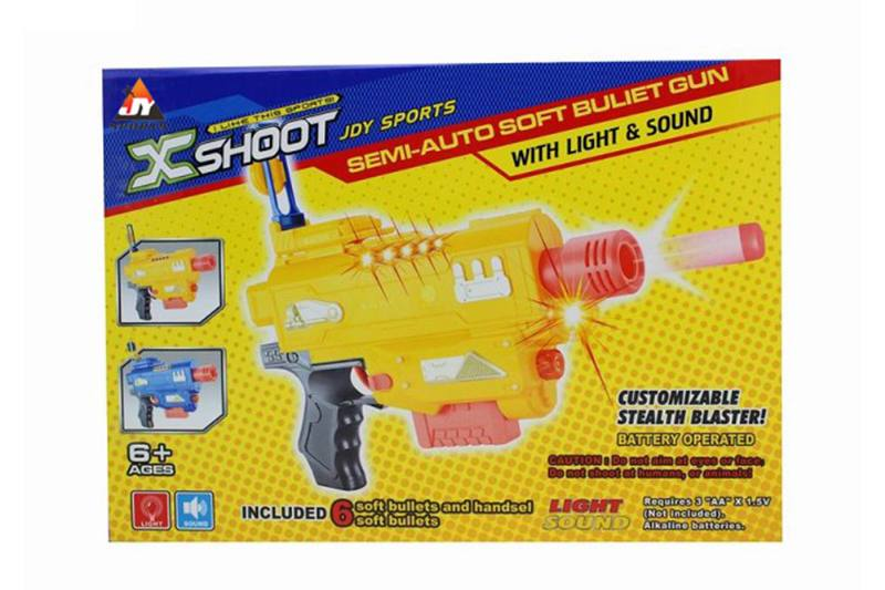 Electric toy electric light with soft soft bullet gun NO.TA261677