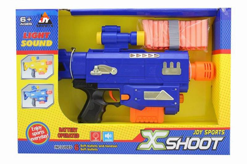 Electric toy electric light with soft soft bullet gun NO.TA261678