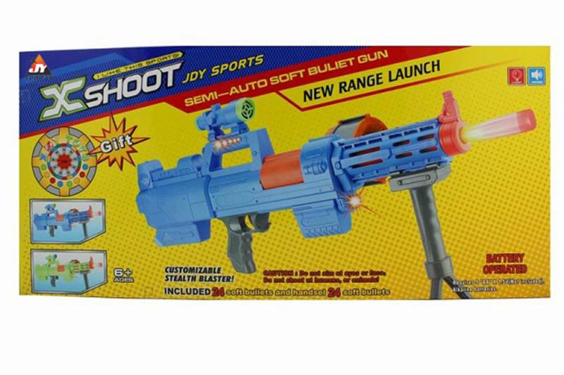 Electric toy electric light with soft soft bullet gun NO.TA261680
