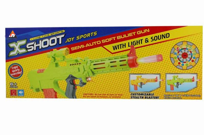 Electric toy electric light with soft soft bullet gun NO.TA261681