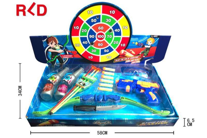 Military shooting toy bow and arrow gun set EVA toy gun No.TA260128