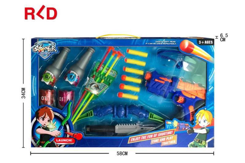Military shooting toy bow and arrow gun set EVA toy gun No.TA260132