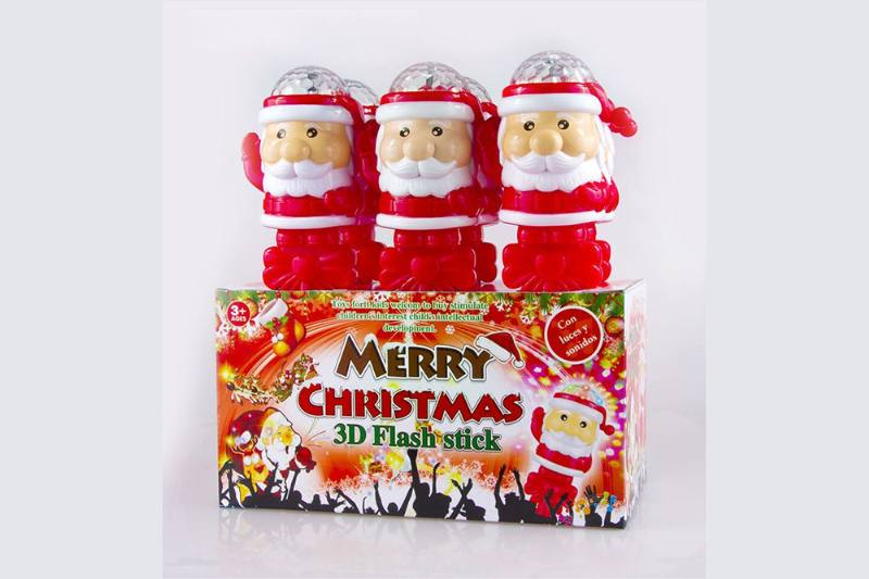 Shining Stick Santa Claus Rotating Stage Lights Electric Toys No.TA254646