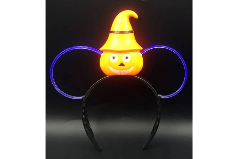 Flash toy pumpkin flash hair clip (white tube) No.TA254718