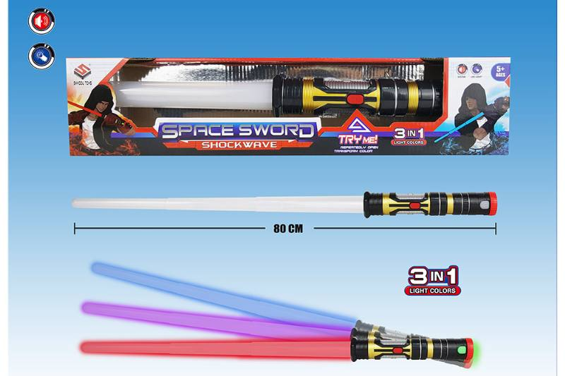 Novelty toy light sound stretching sword No.TA258157