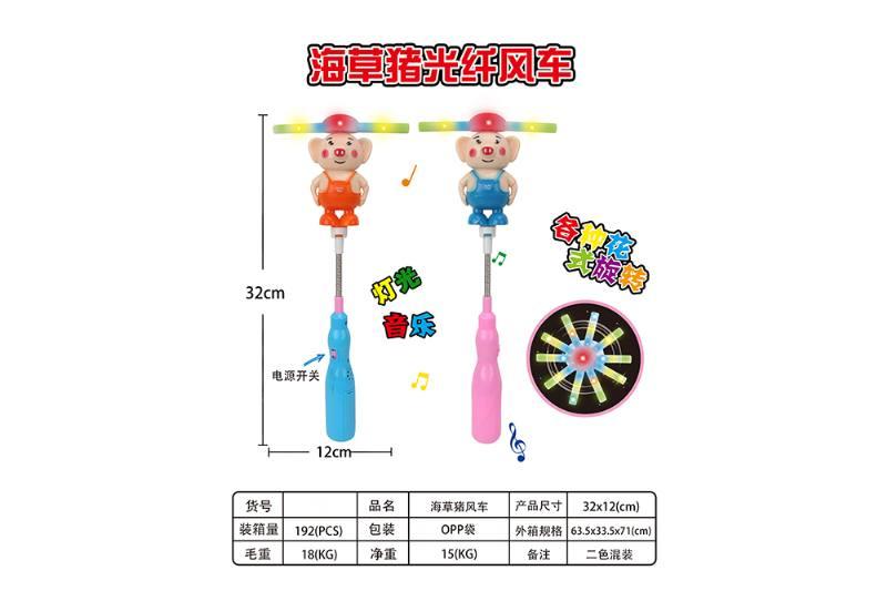 Flash stick toy seaweed pig flash wind car No.TA259376