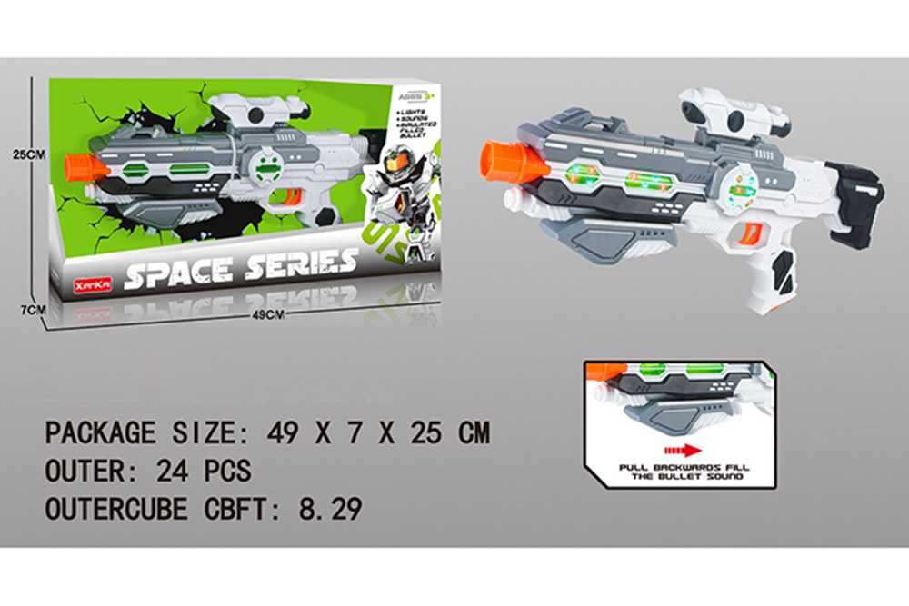 Flashing music weapon toy space gun No.TA261508