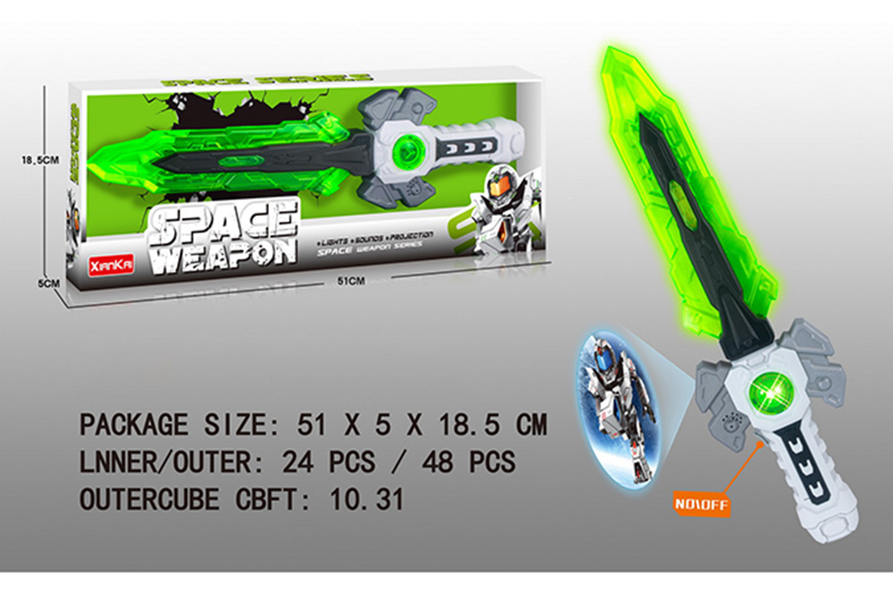 Flashing music weapon toy space projection sword No.TA261511