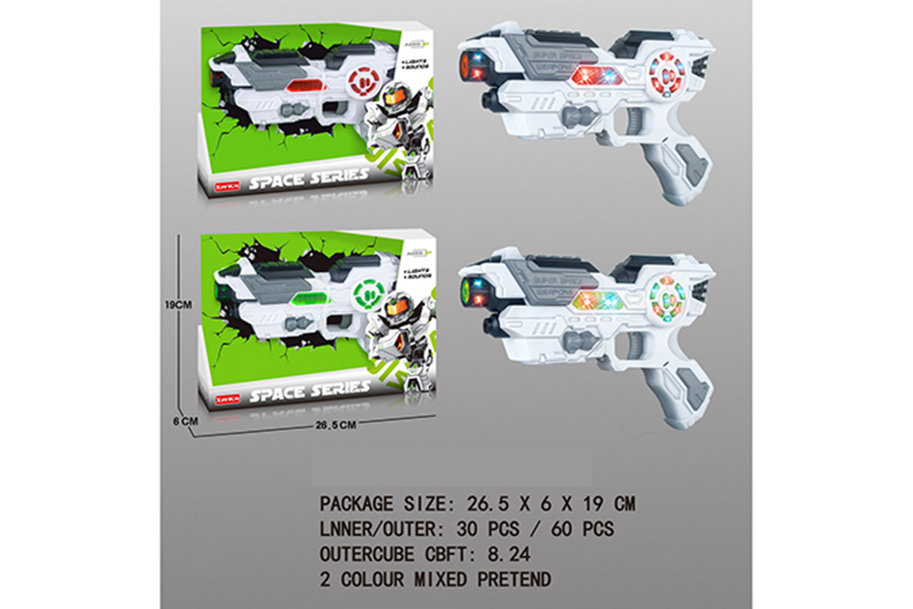 Flashing music weapon toy space gun No.TA261513