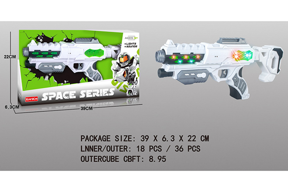 Flashing music weapon toy space gun No.TA261517