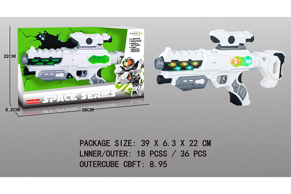 Flashing music weapon toy space gun No.TA261518