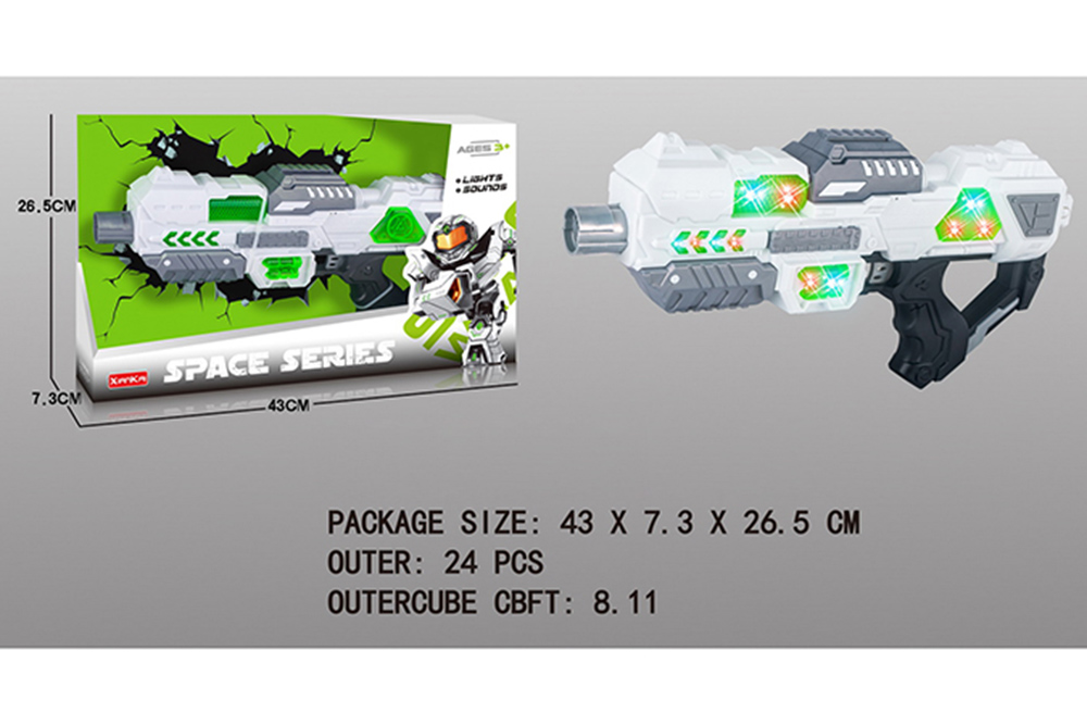 Flashing music weapon toy space gun No.TA261519
