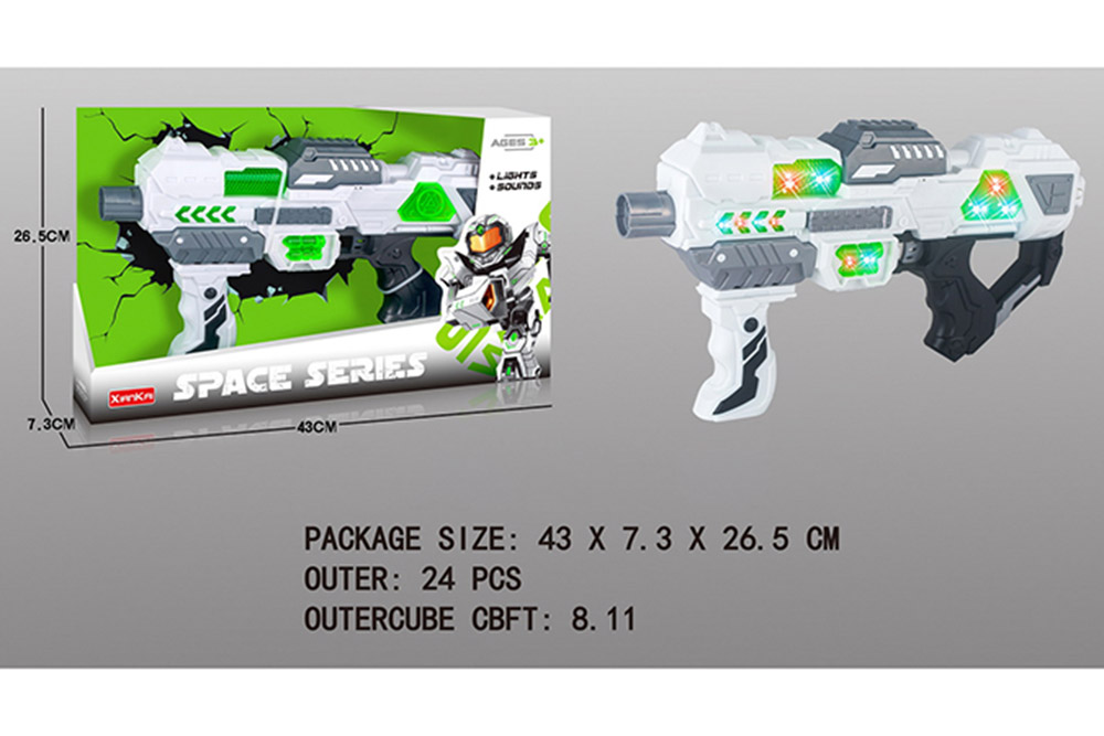 Flashing music weapon toy space gun No.TA261520