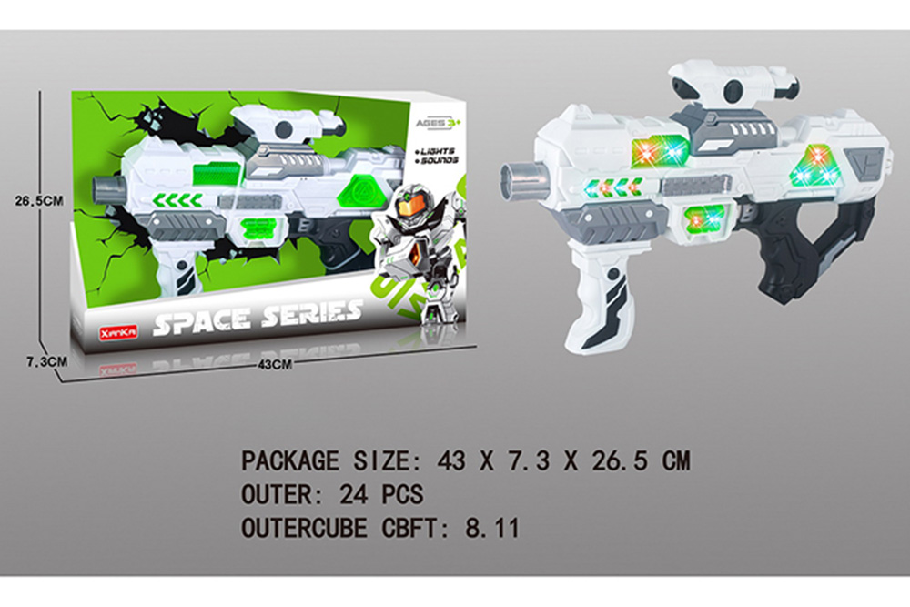 Flashing music weapon toy space gun No.TA261521