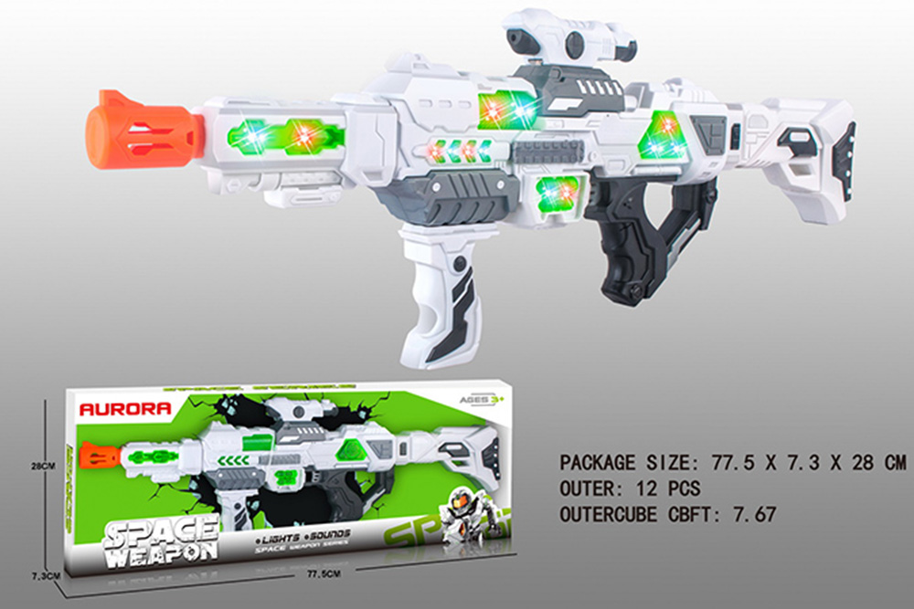 Flashing music weapon toy space gun No.TA261522