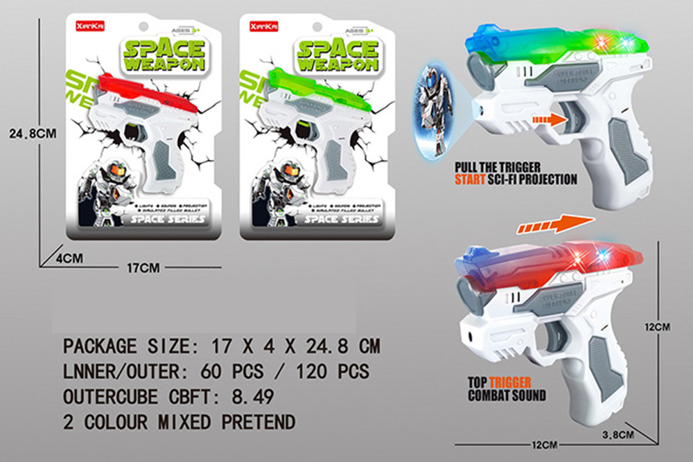 Flashing music weapon toy space gun No.TA261528