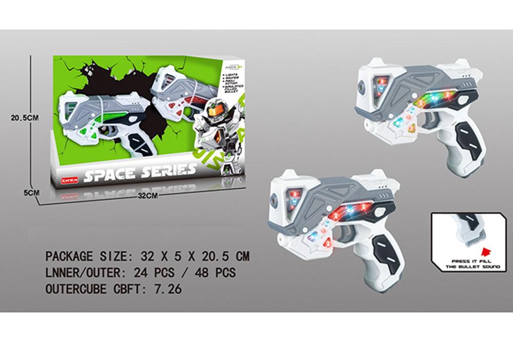 Flashing music weapon toy space gun set No.TA261532
