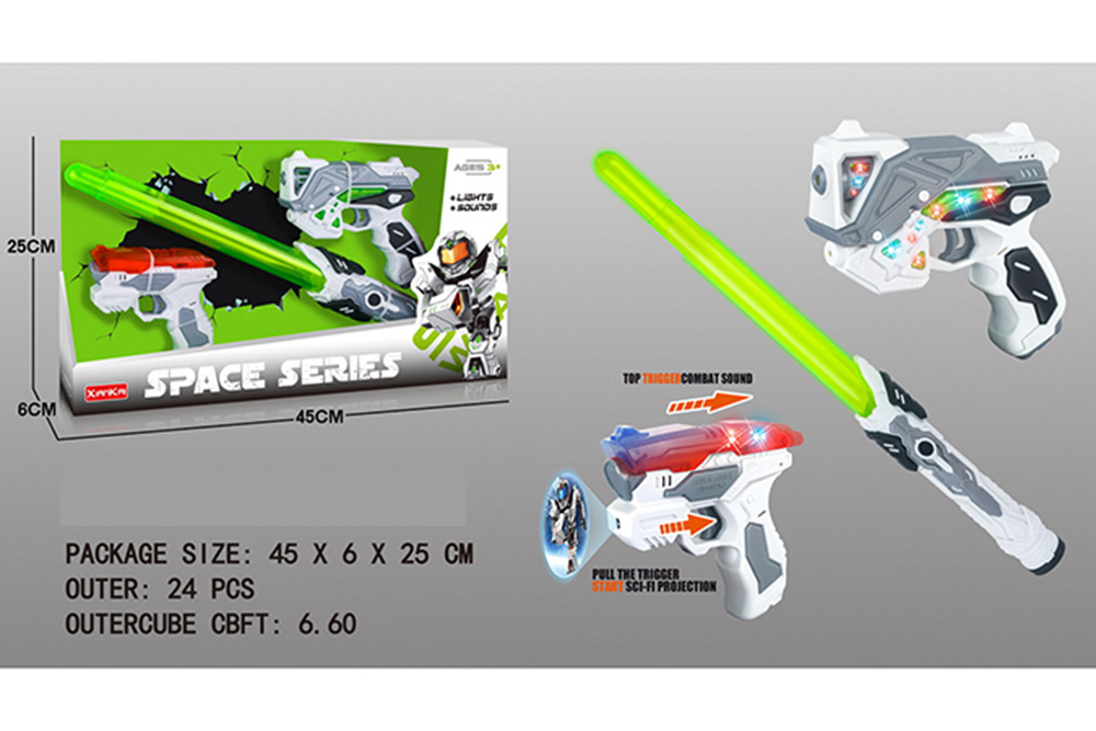 Flashing Musical Weapon Toy Space Gun Weapon Set No.TA261540