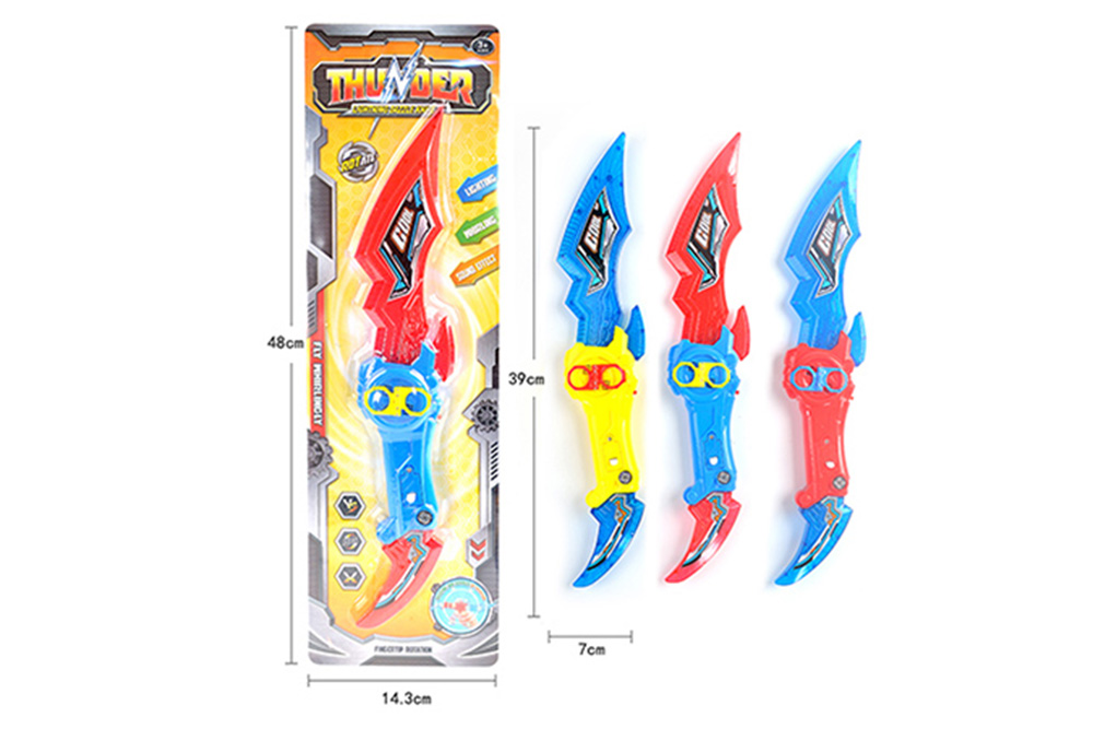 Cool gyro toy Rotating finger gyro glare knife with light music (can hold candy) No.TA255823