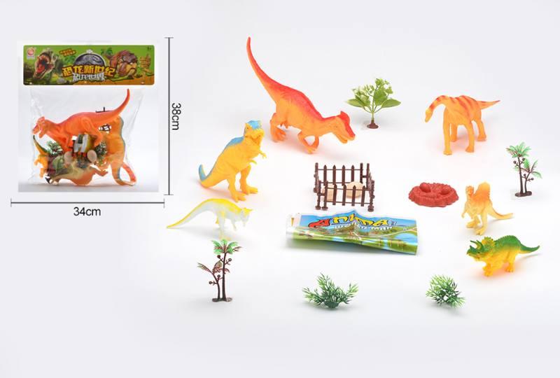 Animal and plant simulation model toy Dinosaur World No.TA255452