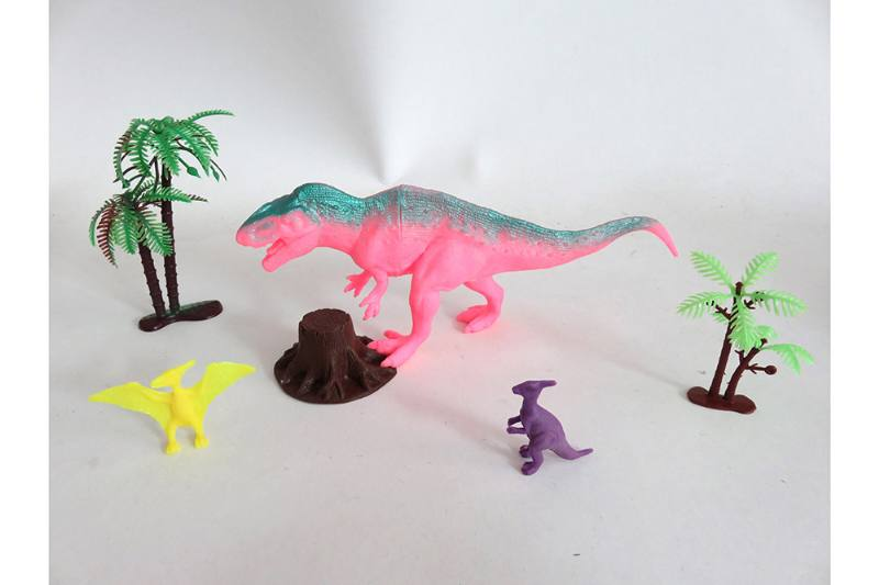 Animal and plant simulation model toy Scene static dinosaur (with BB whistle) No.TA255804