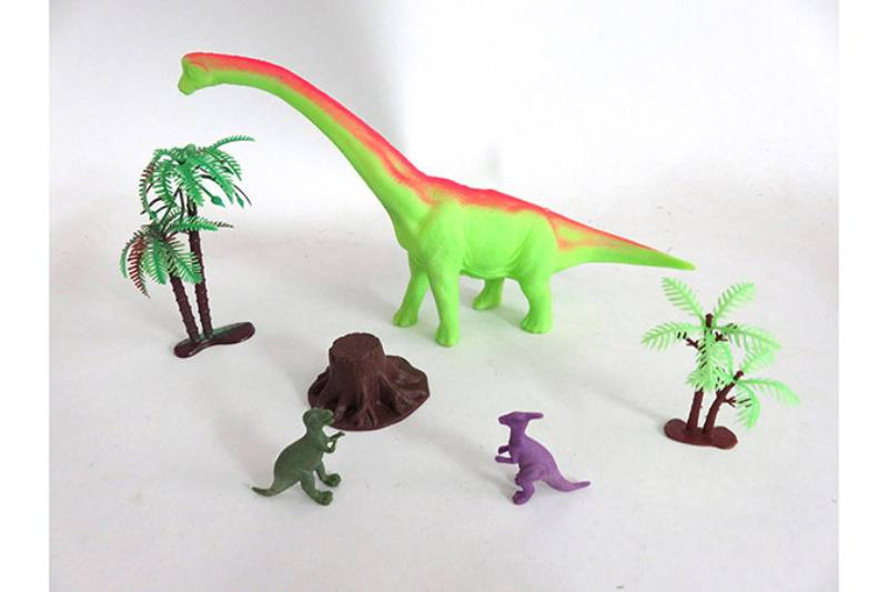 Animal and plant simulation model toy Scene static dinosaur (with BB whistle) No.TA255806