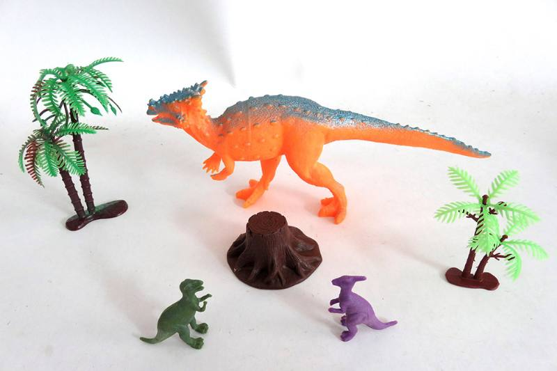 Animal and plant simulation model toy Scene static dinosaur (with BB whistle) No.TA255807