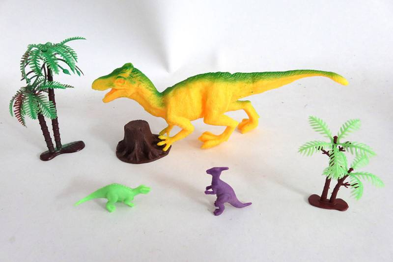 Animal and plant simulation model toy Scene static dinosaur (with BB whistle) No.TA255808
