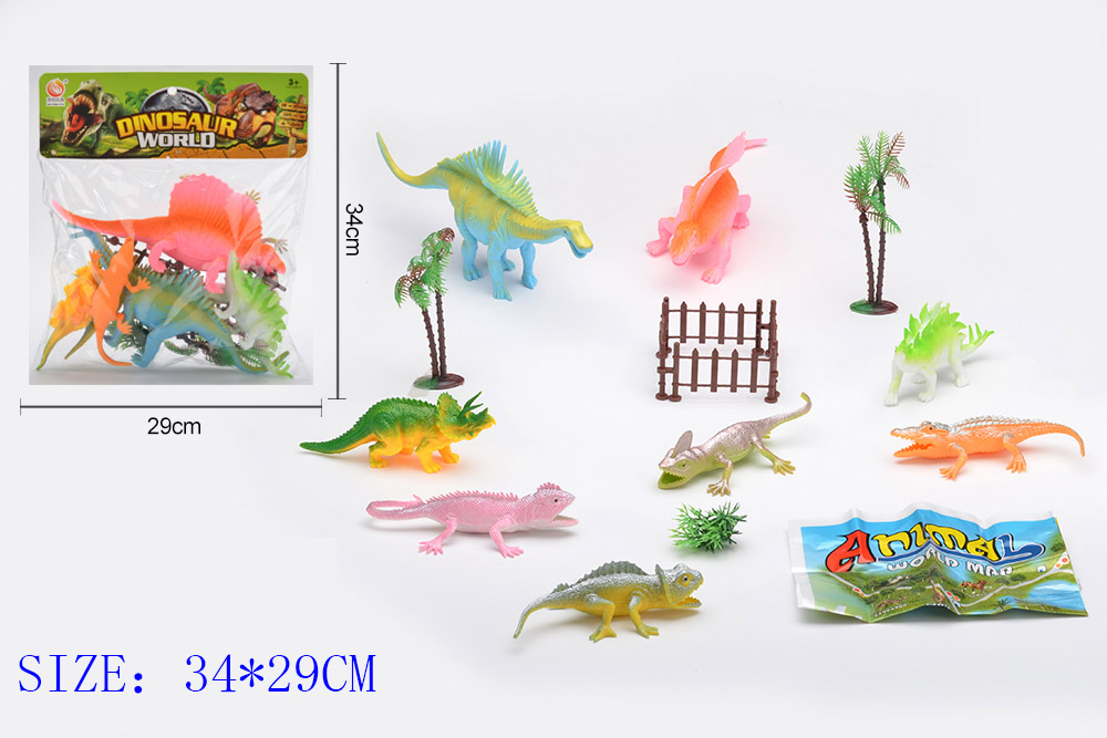 Animal and plant simulation model toy Dinosaur WorldNo.TA255951