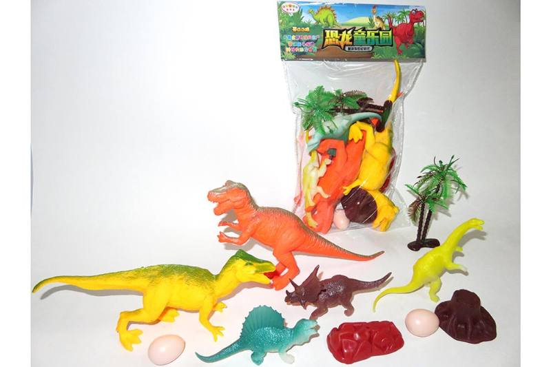 Animal and plant model toy Simulation scene dinosaur (with BB whistle) No.TA260611
