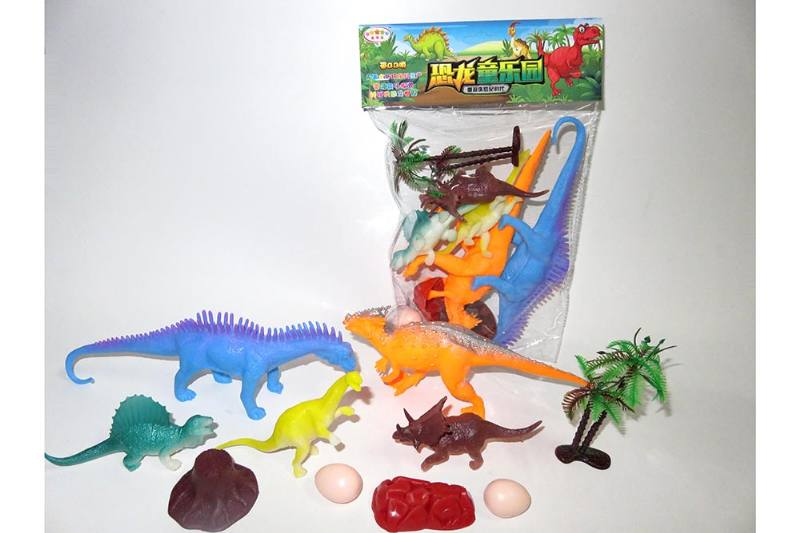 Animal and plant model toy Simulation scene dinosaur (with BB whistle) No.TA260612