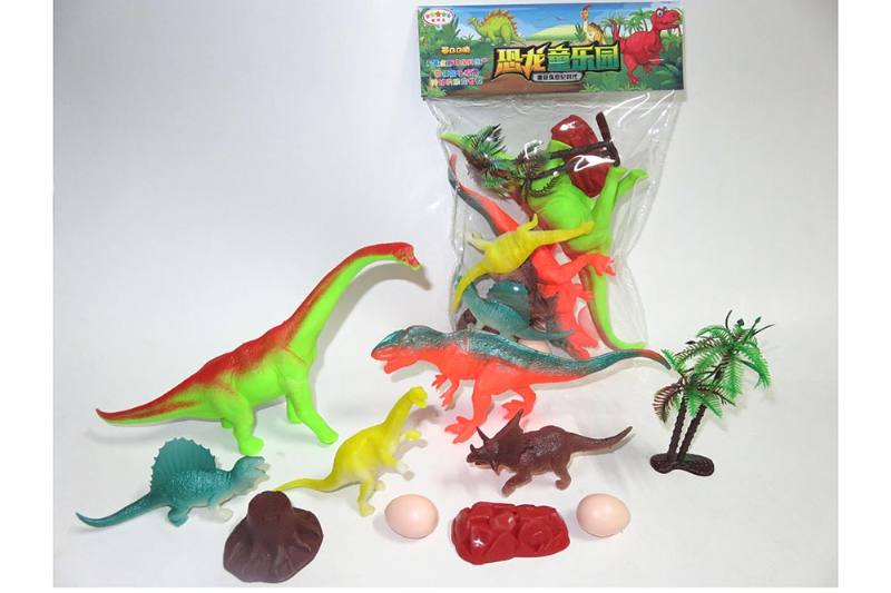 Animal and plant model toy Simulation scene dinosaur (with BB whistle) No.TA260614