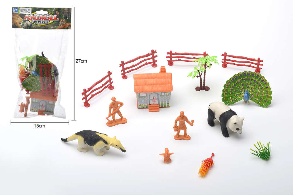 DIY Farm Ranch Toy Set Animal and Plant Model Simulation Toy No.TA261489