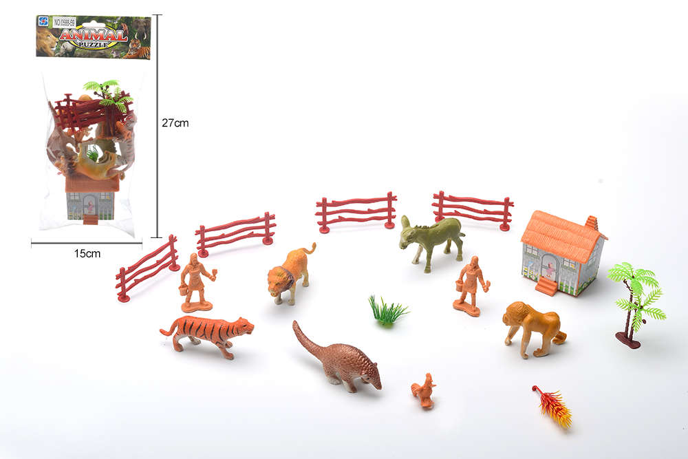 DIY Farm Ranch Toy Set Animal and Plant Model Simulation Toy No.TA261490