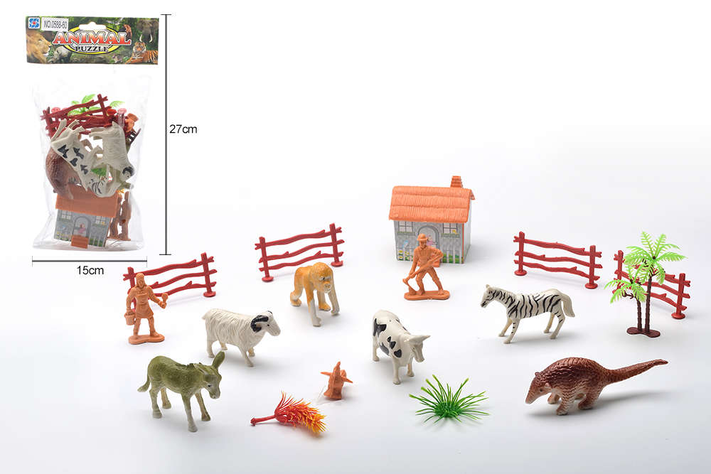 DIY Farm Ranch Toy Set Animal and Plant Model Simulation Toy No.TA261491