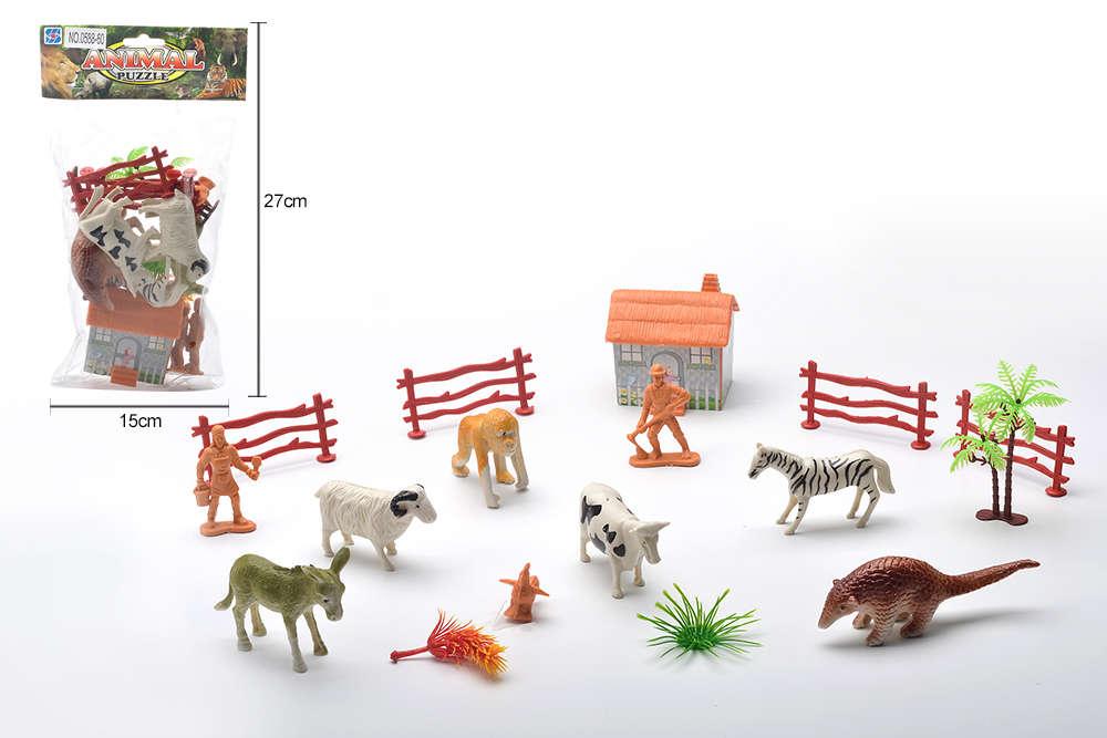 DIY Farm Ranch Toy Set Animal and Plant Model Simulation Toy No.TA261491